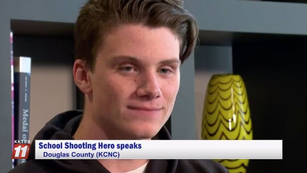 Brendan Bialy is being called a hero after engaging the suspect during a school shooting in Colorado.