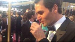 Roger Federer Nails A Tequila Slammer On The Oscars Red