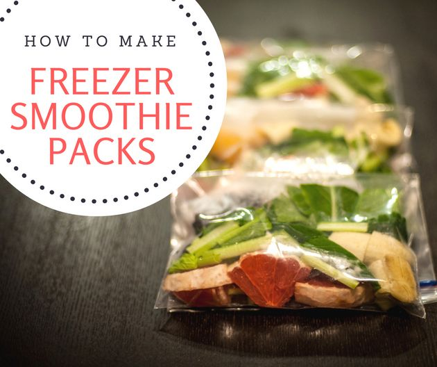 These 5 DIY Freezer Smoothie Packs Are Perfect For