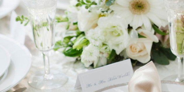 Wedding table setting, studio