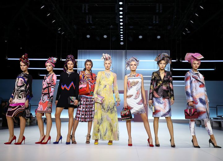 Models wear Pucci during the Myer Spring 16 Fashion Launch.