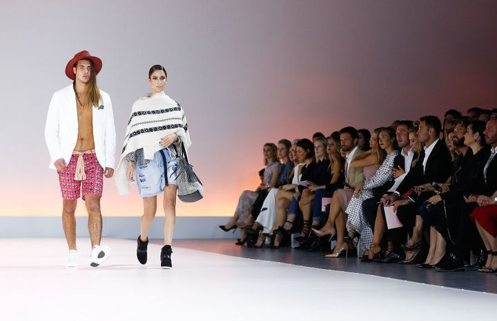 Models wear Scotch & Soda during the Myer Spring 16 Fashion Launch.
