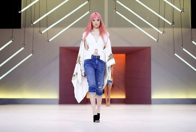 Fernanda Ly wears Sass & Bide during the Myer Spring 16 Fashion