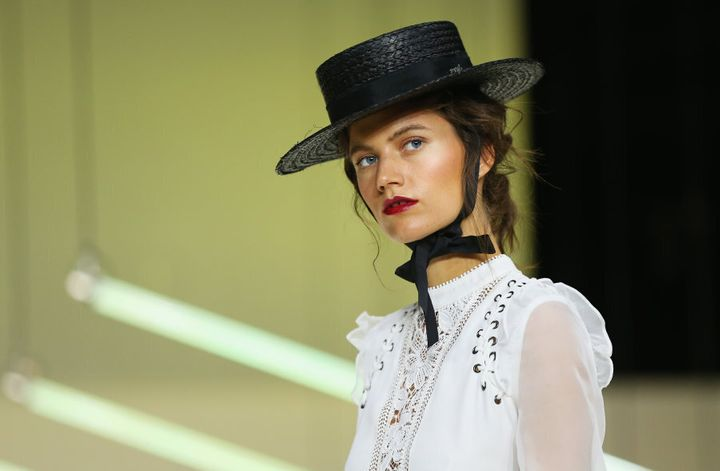 Model wears Self Portrait during the Myer Spring 16 Launch.