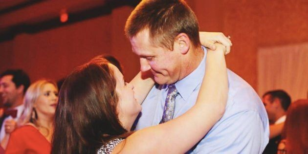 Dancing with my man at awedding earlier this year