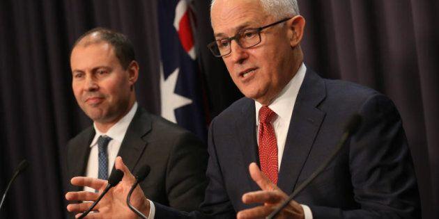 Prime Minister Malcolm Turnbull with Energy Minister Josh Frydenberg