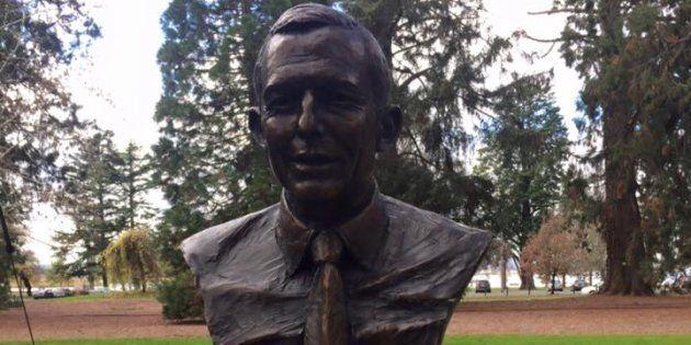 Abbott's bust, in Ballarat, has been targeted several times.