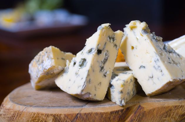 Cheese lovers, relax. If the food is meant to be mouldy, it's a-ok to