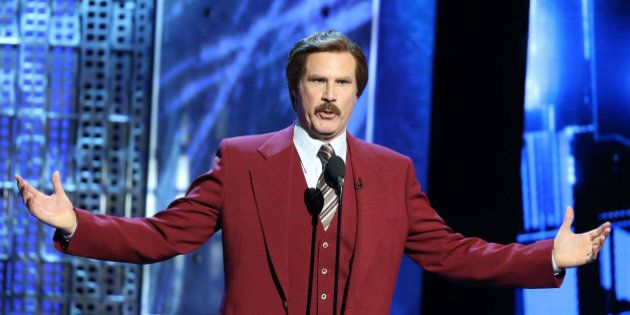 LOS ANGELES, CA - MARCH 14: Will Ferrell (in character as 'Ron Burgundy') speaks onstage during Comedy...
