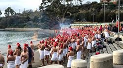 More Than 1000 Naked People Ran Into Icy Tassie Waters For Dark Mofo's Nude Solstice