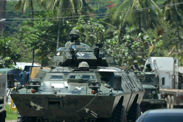 The Philippines military are engaged in a shootout with the Islamic State-linked militants.