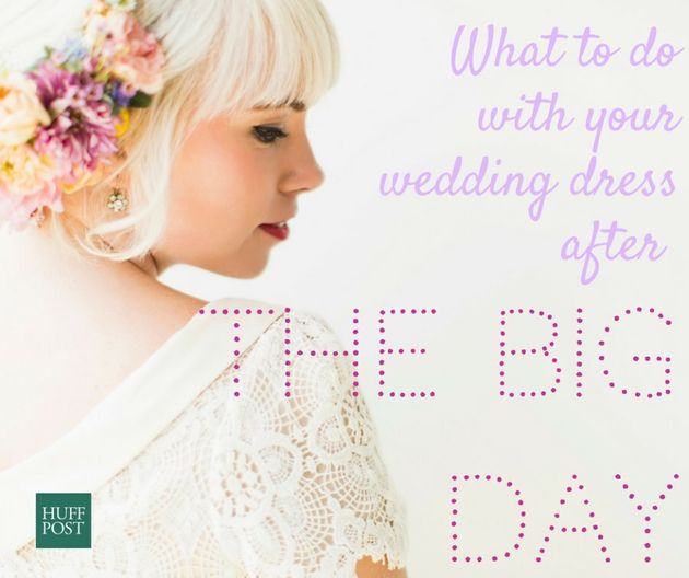 What To Do With Your Wedding Dress After The Big