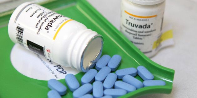 SAN ANSELMO, CA - NOVEMBER 23: Bottles of antiretroviral drug Truvada are displayed at Jack's Pharmacy...