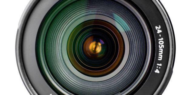 Camera lens close