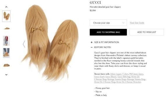 You Can Now Buy These Ridiculous Gucci Goat Hair Slippers For