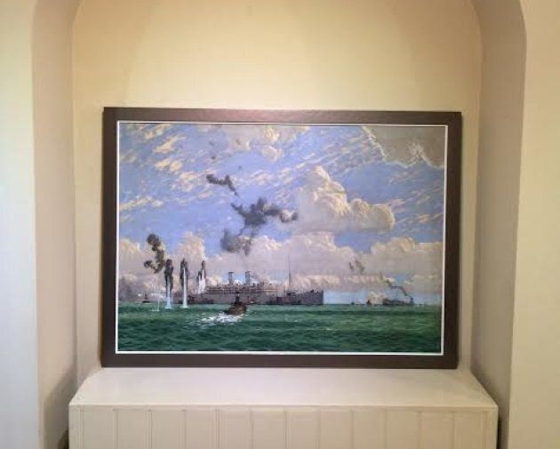 The Evacuation of St. Nazaire at the Rountree Tryon gallery in