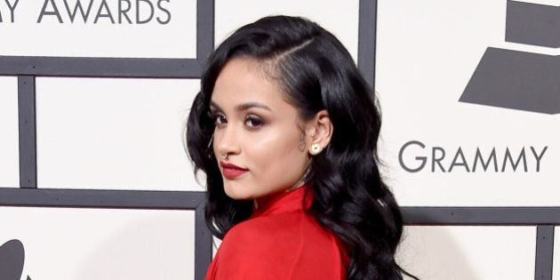 LOS ANGELES, CA - FEBRUARY 15: Recording artist Kehlani attends The 58th GRAMMY Awards at Staples Center...