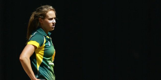 MELBOURNE, AUSTRALIA - NOVEMBER 07: Ellyse Perry of Australia looks on during game three of the International...