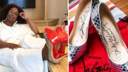 Bidding War To Buy Oprah's Christian Louboutins Heats Up In The Name Of