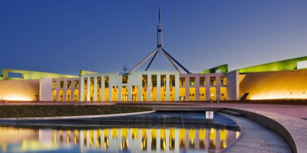 View of Parliament House of Canberra,