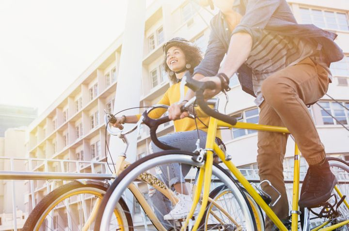 Cycle to work to boost energy and exercise at the same time.