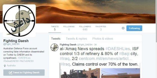 Anti-ISIS Twitter Account: Australian Defence Force Opens