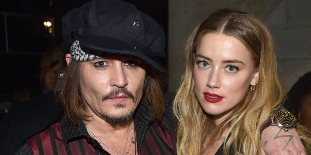 Johnny Depp and actress Amber Heard attend the 58th Grammy Awards at Staples Center on Feb. 15, 2016, in Los Angeles, California.