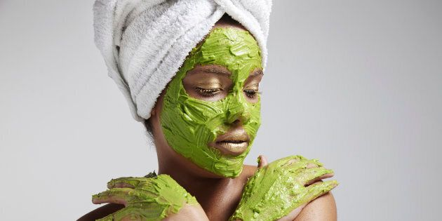 Avocado is a 'rich source of essential nutrients that soothe and moisturise'. Also, great on