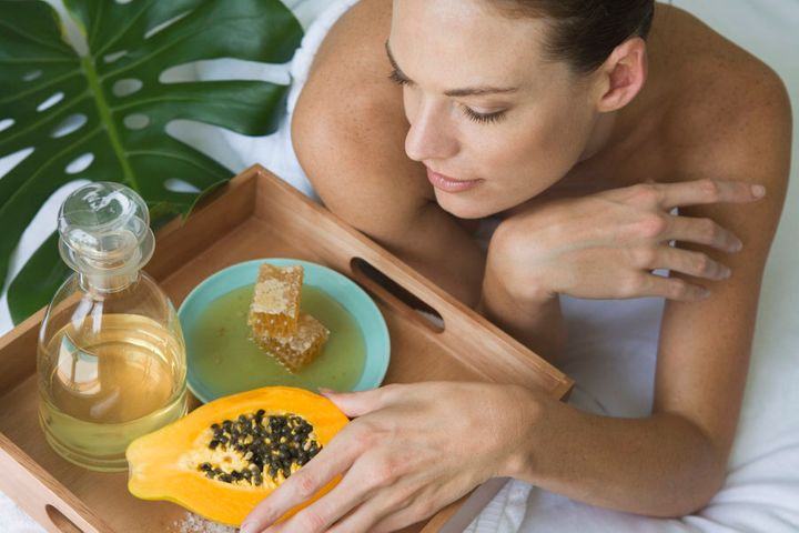 Papaya and honey are also great for the skin.