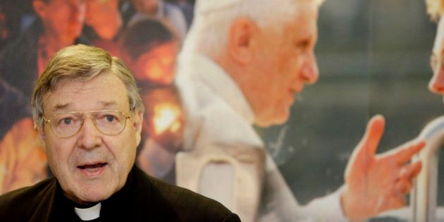 FILE - This May 28, 2008 file photo shows Cardinal George Pell addressing a press conference for World...