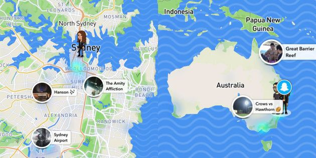Snap map lets you see your mates