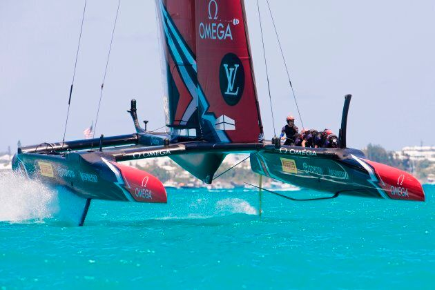 These boats literally fly. And we mean literally literally. It's only the foils that touch the