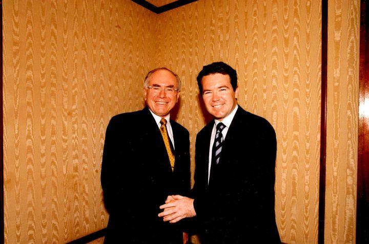 Former Prime Minister John Howard and Dean Smith