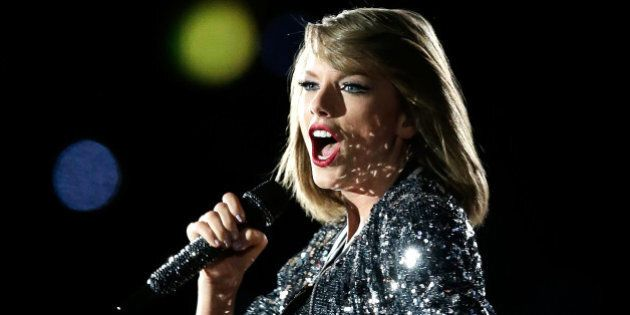 SYDNEY, AUSTRALIA - NOVEMBER 28: Taylor Swift performs during her '1989' World Tour at ANZ Stadium on...