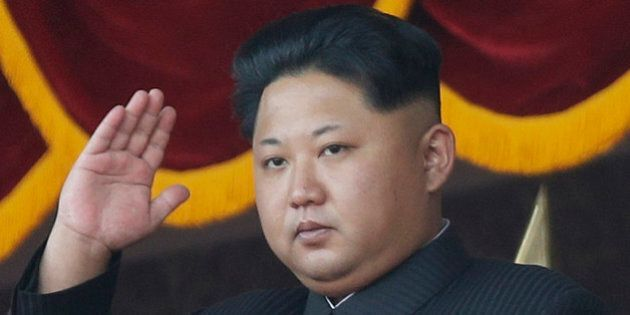In this Oct. 10, 2015, file photo, North Korean leader Kim Jong Un gestures as he watches a military...