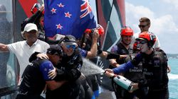 New Zealand Cruises To America's Cup Victory Over U.S. In Near