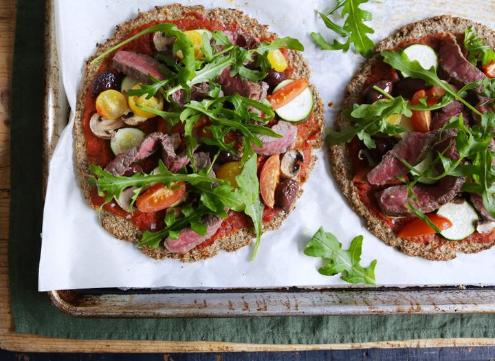 A cauliflower base gives these pizzas a nutritious boost.