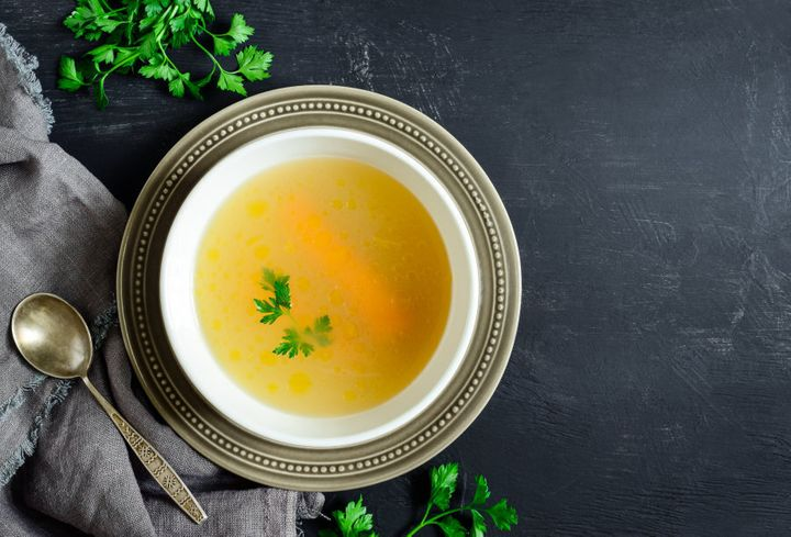 Keep the soup brothy and simple.
