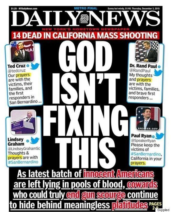 Mass Shooting: This Front Page Sums Up The Weak