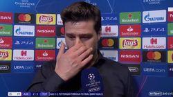 Les larmes du coach de Tottenham après la victoire contre