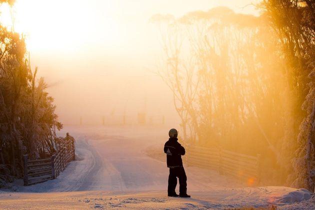 Thredbo's massive snowmaking system has bridged the gap between natural snowfalls so far this