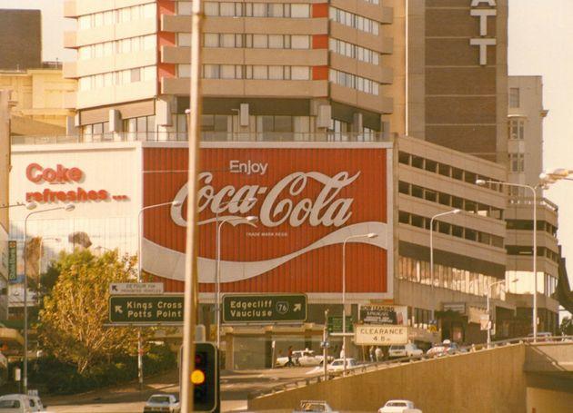 The Kings Cross Coke sign as it appeared from