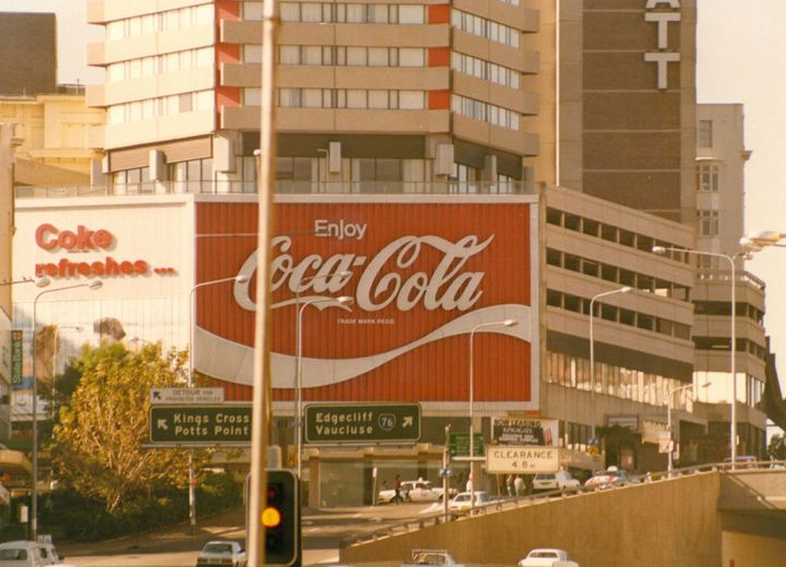The Kings Cross Coke sign as it appeared from 1974-1989.
