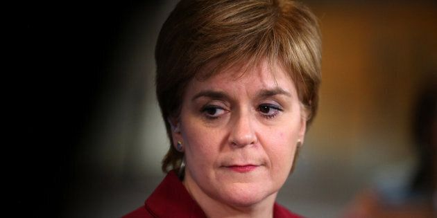 First Minister Nicola Sturgeon conducts a TV interview at the Emirates Arena in Glasgow after the 2017 General Election. PRESS ASSOCIATION Photo. Picture date: Friday June 9, 2017. Photo credit should read: Andrew Milligan/PA WirePicture date: Friday June 9, 2017. See PA story ELECTION Main. Photo credit should read: Andrew Milligan/PA Wire