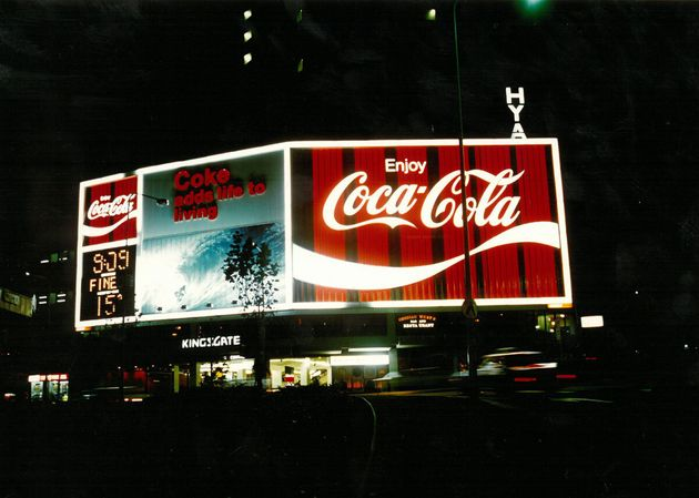 DID YOU KNOW.. The sign was powered by 1200 red and white neon
