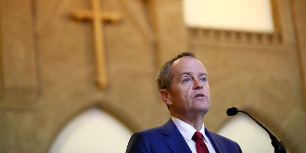 Opposition Leader Bill Shorten during the Ecumenical Service to mark the opening of the 45th