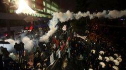 Turkish Police Fire Tear Gas At Newspaper As EU Officials Lament Press