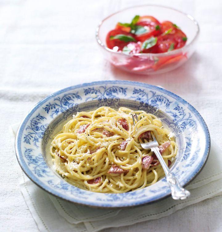 Mmm, spaghetti carbonara.