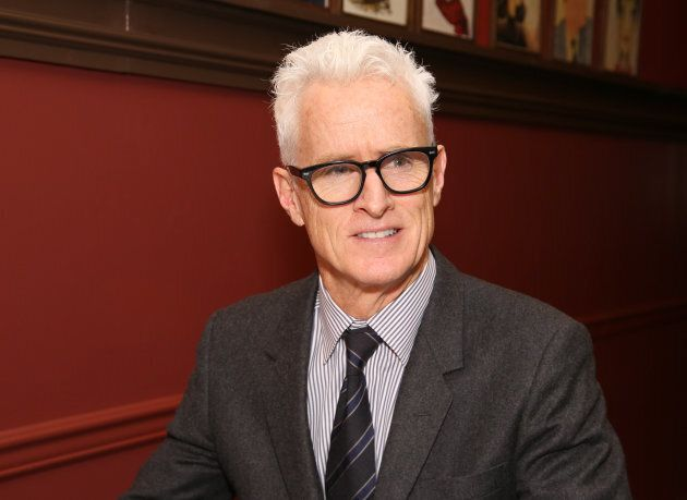 Black glasses and grey hair seem to be a winning combo for the Mad Men
