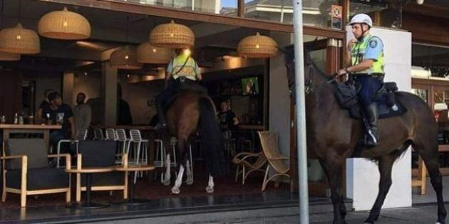 Police Snapped Riding A Horse Inside Bondi